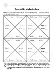 Geometric Multiplication Worksheet