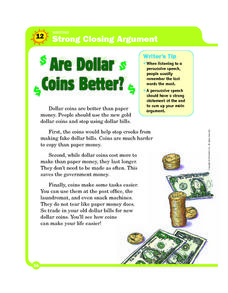 Are Dollar Coins Better Worksheet