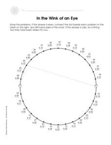 In the Wink of an Eye Worksheet