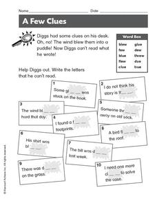 A Few Clues Worksheet