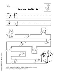 See and Write Dd Worksheet