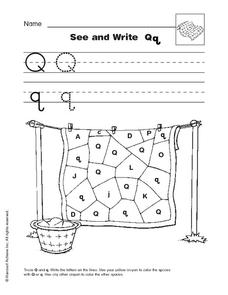 See and Write Qq Worksheet