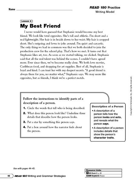 description for a person  writing descriptive essays about