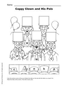 Cappy Clown and His Pals Worksheet
