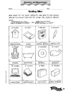 Smiling Miler Worksheet