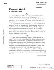 Elephant Watch: Evaluate Source/Evidence Worksheet