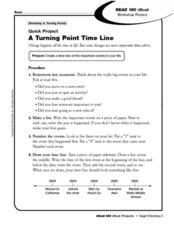 Quick Project A Turning Point Time Line Worksheet