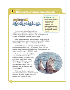 Calling All Dolphins Worksheet