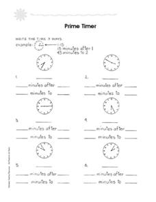 Prime Timer Worksheet