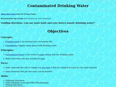 Contaminated Drinking Water Lesson Plan