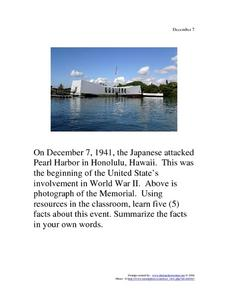 Pearl Harbor Remembrance Day Lesson Plans Worksheets Lesson Planet