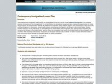 Contemporary Immigration Lesson Plan Lesson Plan