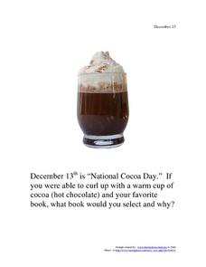December 13 - National Cocoa Day Worksheet