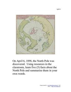 April 6, 1898 - North Pole Worksheet