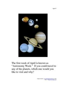 April 8 - Astronomy Week Worksheet