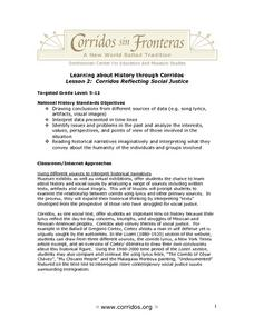 Corridos: Reflecting Social Justice Lesson Plan