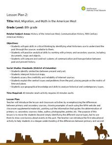 Mail, Migration, and Myth in the American West Lesson Plan