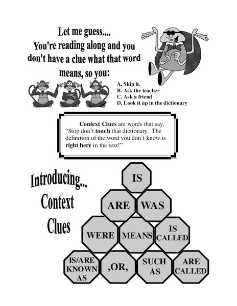 Context Clues Worksheets Reviewed by Teachers