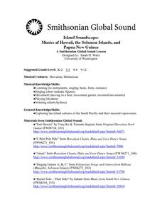 Island Soundscape: Musics of Hawaii, the Solomon Islands, and Papua New Guinea Lesson Plan