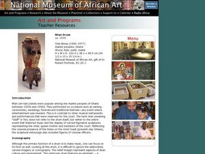 African Art: Ntan Drum Lesson Plan