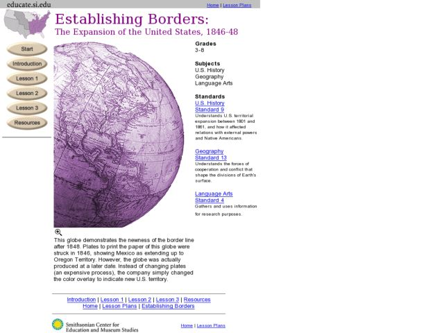 Establishing Borders:  The Expansion of the United States 1846-48 Lesson Plan