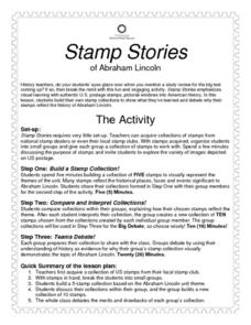 Stamp Stories of Abraham Lincoln Lesson Plan