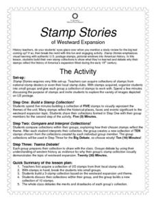 Stamp Stories of Westward Expansion Activities & Project