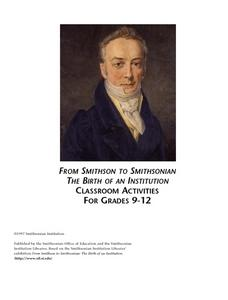 From Smithson to Smithsonian:  Who Was James Smithson? Lesson Plan