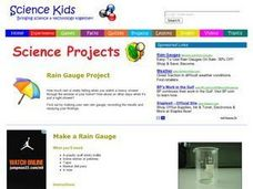 Make a Rain Gauge! Lesson Plan