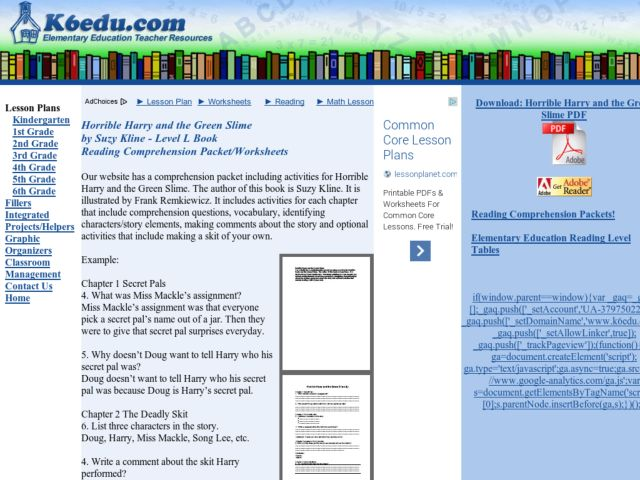 Horrible Harry Books Lesson Plans & Worksheets Reviewed by Teachers