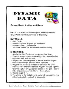 Dynamic Data Range, Mode, Median, and Mean Lesson Plan