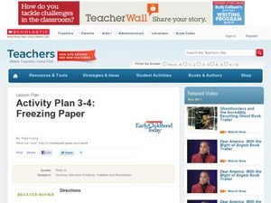 Activity Plan 3-4: Freezing Paper Lesson Plan