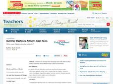 Summer Machines Activity: Cool Tools Lesson Plan