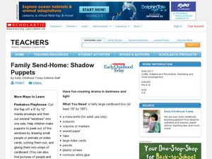 Family Send-Home: Shadow Puppets Lesson Plan