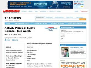 Sunny Science - Sun Watch Lesson Plan