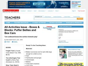 Boxes & Blocks: Puffer Bellies and Box Cars Lesson Plan