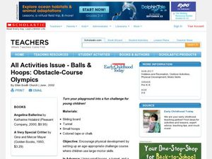 Balls & Hoops: Obstacle-Course Olympics Lesson Plan