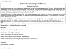 Continents Lesson Plan