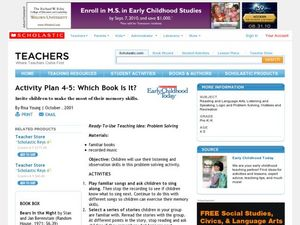 Which Book is It? Lesson Plan