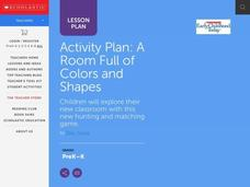 A Room Full of Colors and Shapes Lesson Plan