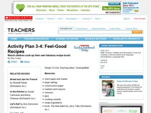 Feel-Good Recipes Lesson Plan