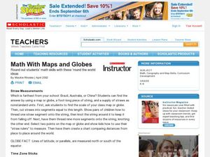 Math with Maps and Globes Lesson Plan