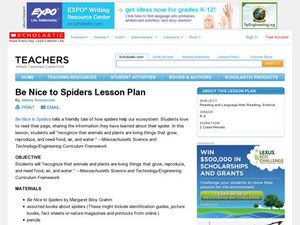 Be Nice to Spiders Lesson Plan Lesson Plan