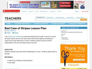 Bad Case of Stripes Lesson Plan Lesson Plan