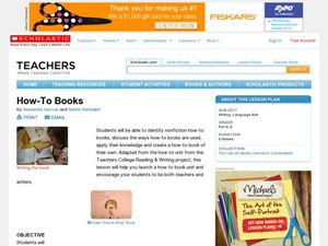How-To Books Lesson Plan