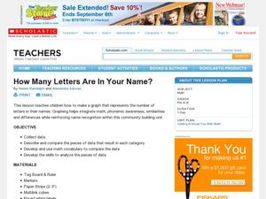 How Many Letters Are In Your Name? Lesson Plan
