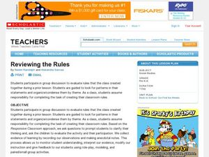 Reviewing the Rules Lesson Plan