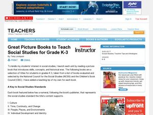 Great Picture Books to Teach Social Studies for Grade K-3 Lesson Plan