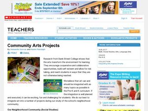 Community Arts Projects Lesson Plan