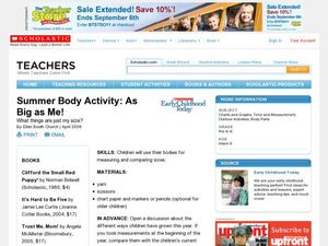 Summer Body Activity: As Big as Me! Lesson Plan